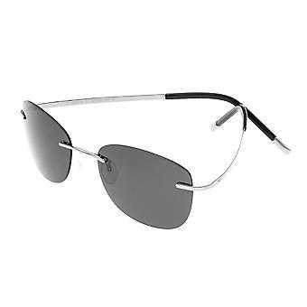 تبسيط ماتياس النظارات الشمسية المستقطبة - الفضة / الفضة