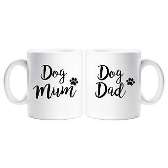 Hund mamma Dog pappa mugg Set