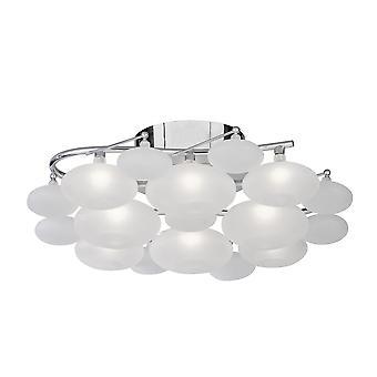 Dulcie 8 leichte Chrom und sauren Glas spülen Armatur - Searchlight 8408-8CC