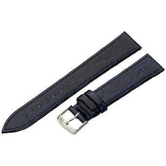 Morellato leather bracelet 18 mm blue A01U1563821062CR18 BIRMINGHAM man
