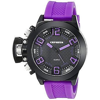 CEPHEUS CP901-620-men's wristwatch, silicone, color: purple