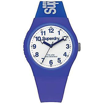 SUPERDRY Quartz analoog horloge Unisex siliconen polshorloge SYG164U