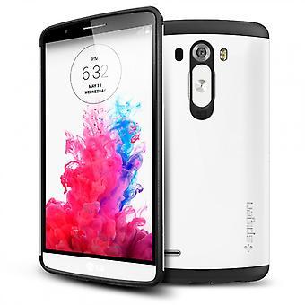 Spigen Slim rustning fallet för LG G3 - skimrande vit