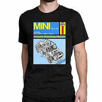Officiële Haynes handleiding Unisex T-shirt MINI 1969 tot 88 All modellen Owners Workshop Manual