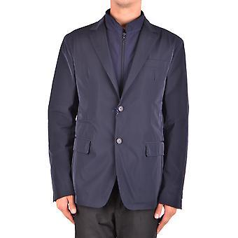 Fay Ezbc035037 Men's Blue Polyester Blazer