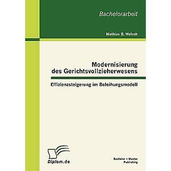 Modernisierung Des Gerichtsvollzieherwesens Effizienzsteigerung Im Beleihungsmodell by Welsch & Mathias B.