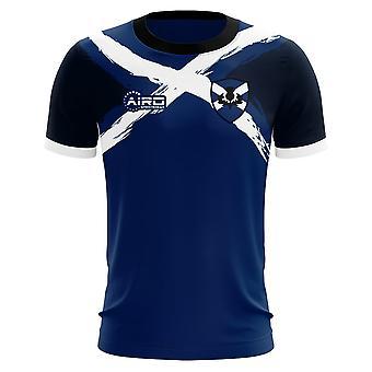 2019-2020 Scotland Flag Concept Football Shirt - Adult Long Sleeve