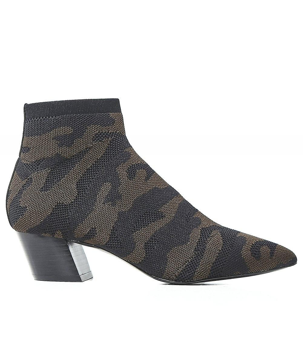 Ash Camille Camo Knitted Sock Boots