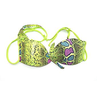 Kinky Octopus Neon Snake, Tie Front Top Thong