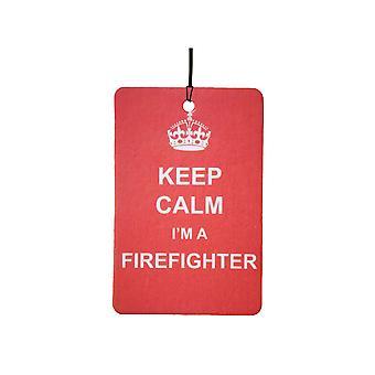 Halten Sie ruhig, ich bin ein Feuerwehrmann-Auto-Lufterfrischer