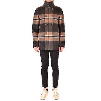 Herno Ezbc034031 Men's Multicolor Wool Coat