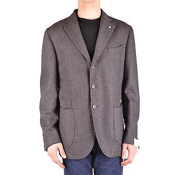 L.b.m. Ezbc215012 Men's Grey Wool Blazer
