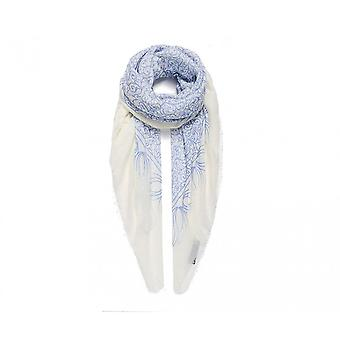 Intrigue Womens/Ladies Large Blue Print Square Scarf