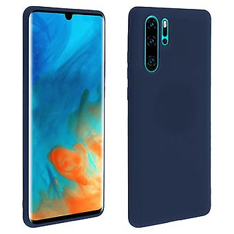 Case for Huawei P30 Pro, soft touch cover, silicone case - Blue