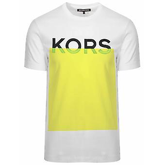 Michael kors hvit & gul logo T-skjorte