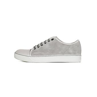Lanvin Cement Grey Suede Toe Cap Sneakers