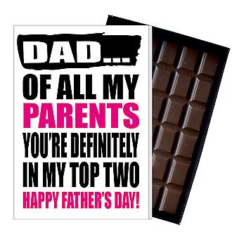 Funny Father's Day Gift Silly Chocolate Present Rude Card For Dad DADIYF139