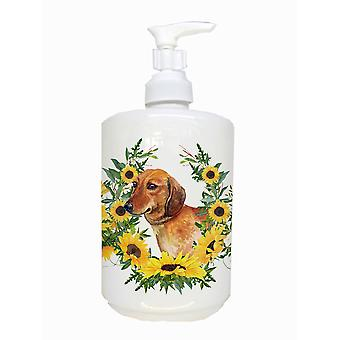 Carolines Treasures  CK2844SOAP Dachshund Ceramic Soap Dispenser
