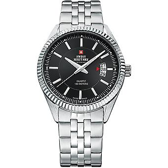 Swiss Military Swiss Quartz Analog Man Watch with SM34046.01 Stainless Steel Bracelet