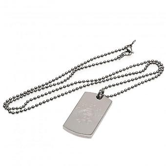 Rangers FC Engraved Dog Tag And Chain