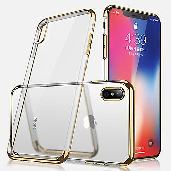Electroplated TPU shell iPhone XR with 2 screen protectors.