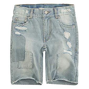 Levi's Big Boys' 511 Slim Fit Denim Shorts, Bleach Out,16, Bleach Out, Taglia 16