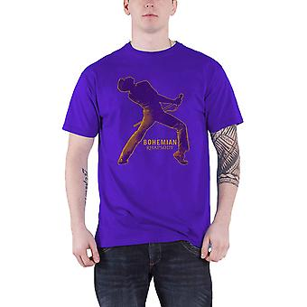 Official Bohemian Rhapsody T Shirt Queen Fortune Movie Logo new Mens Purple