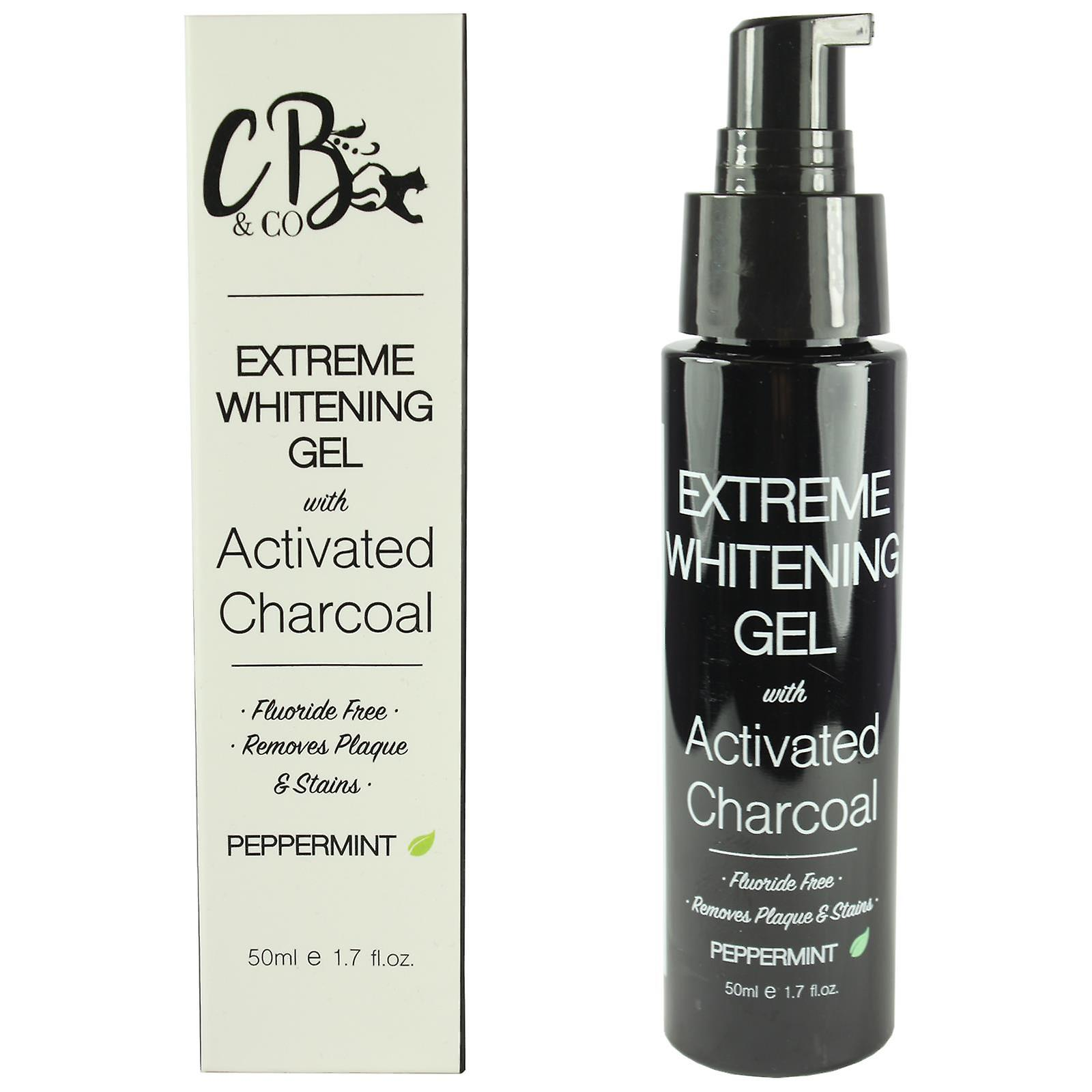 CB & Co Extreme Whitening Gel With Activated Charcoal 50ml