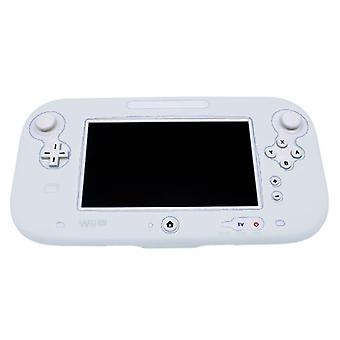 Protective silicone cover for wii u gamepad soft bumper cover - white
