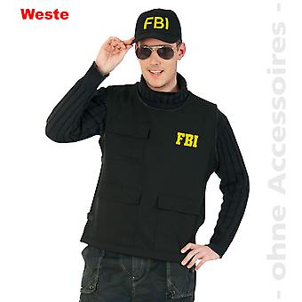 FBI Weste Kostüm Herren Police Sonderkomando Herrenkostüm
