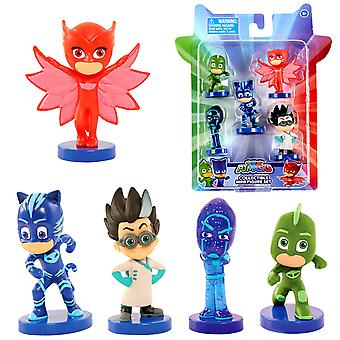 PJ Masks 5-Pack Collectible Mini Figure Set The pyjama heroes collect characters