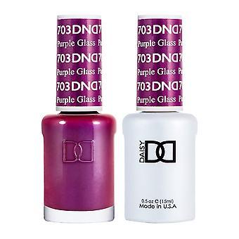 DND Duo Gel & Nail Polish Set - Purple Glass 703 - 2x15ml