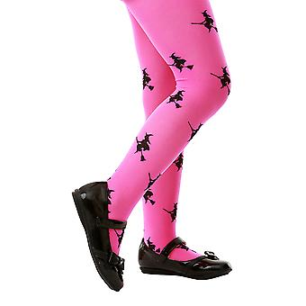 Pink Witch Costume Tights, L