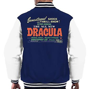Hammer Horror Films Dracula Shock And Thrill Show Men's Varsity Jacket