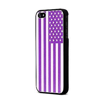 Moxie Aluminium Shell Brushed Fushia Flag Usa For Apple IPhone 5