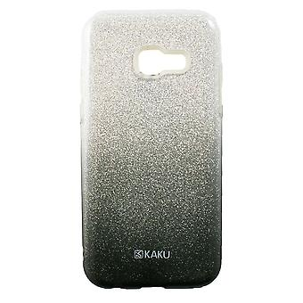 Hull For Samsung Galaxy A3 (2017) with Black and Silver Strawberries