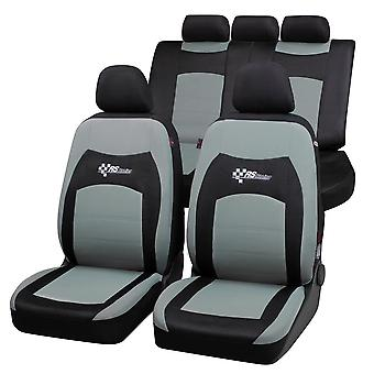 RS Racing Car Seat Cover - sort & grå til Mercedes C-klasse 2000-2007
