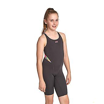 Zoggs Flashback Girl's Swimming Costume in Black 100 % Chlorine Proof