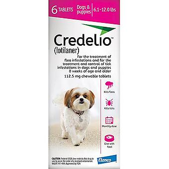 Credelio Pink Small Dogs 2.5-5 kg (6.1-12 lbs) 6 Pack
