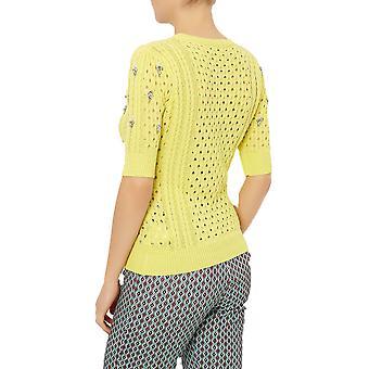 Darling Women's Lemon Georgie Rhinestone Encrusted Sweater