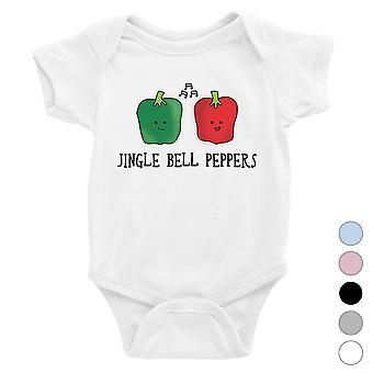 Jingle Bell Peppers baby bodysuit sjov julegave til ferie