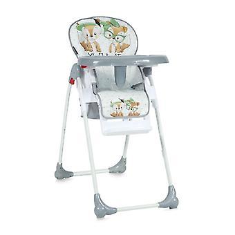 Lorelli lasten syöttö tuoli OLIVER, selkä Noja ja korkeus säädettävissä, rullat, Monet extrat