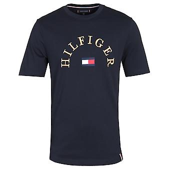 Tommy Hilfiger Relaxed Fit Arch Logo Navy T-Shirt