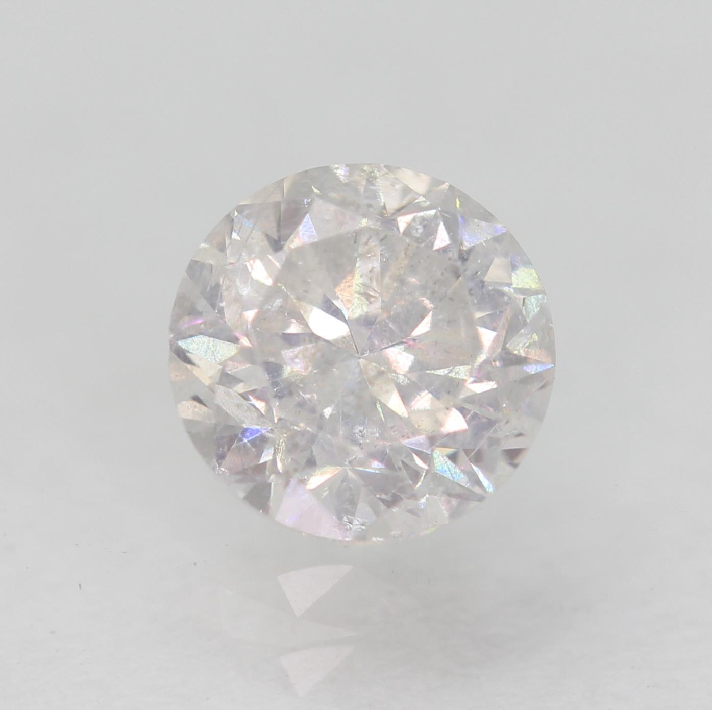 Certified 0.48 Carat D SI2 Round Brilliant Enhanced Natural Diamond 4.85m EX CUT