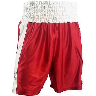 Rival Boxing Youth Dazzle Traditional Cut Competition Boxing Trunks - Red/White