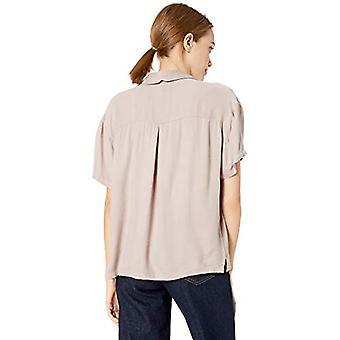 RVCA Junior's Extract Short Sleeve TOP, Pavement, M, Pavement, Size Medium