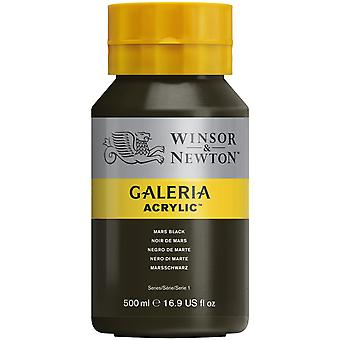 Winsor & Newton Galeria Acrylic Paint 500ml - Mars Black