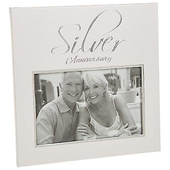 Shudehill Giftware 25th Silver Anniversary 6 X 4 Photo Frame