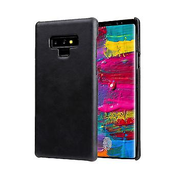 Pour Samsung Galaxy Note 9 Case,Genuine Leather Back Thin Phone Cover,Black
