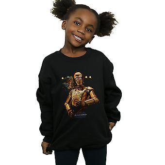 Star Wars Girls The Rise Of Skywalker C-3PO And Babu Frik Sweatshirt